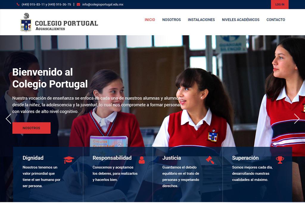 Página web Colegio Portugal
