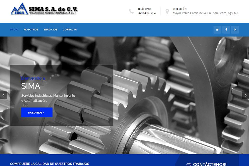 Página web Sima Servicios