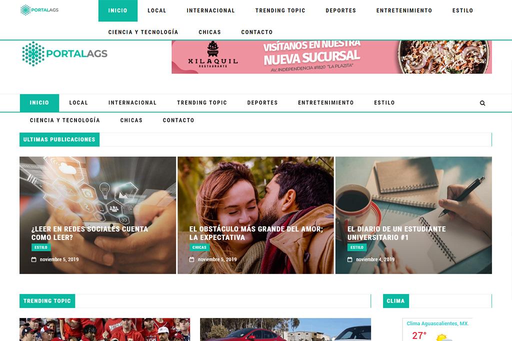 Página web PortalAgs